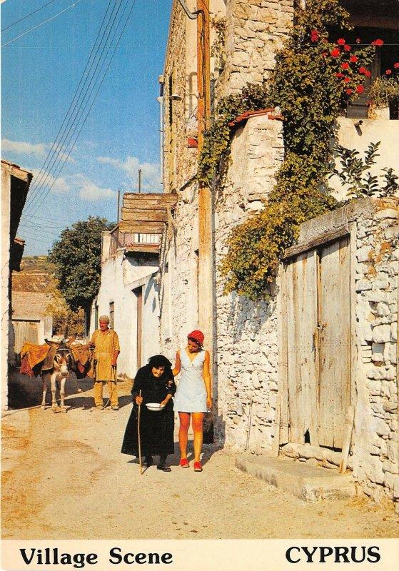 Lot 8 cyprus village scene donkey types folklore folklore types