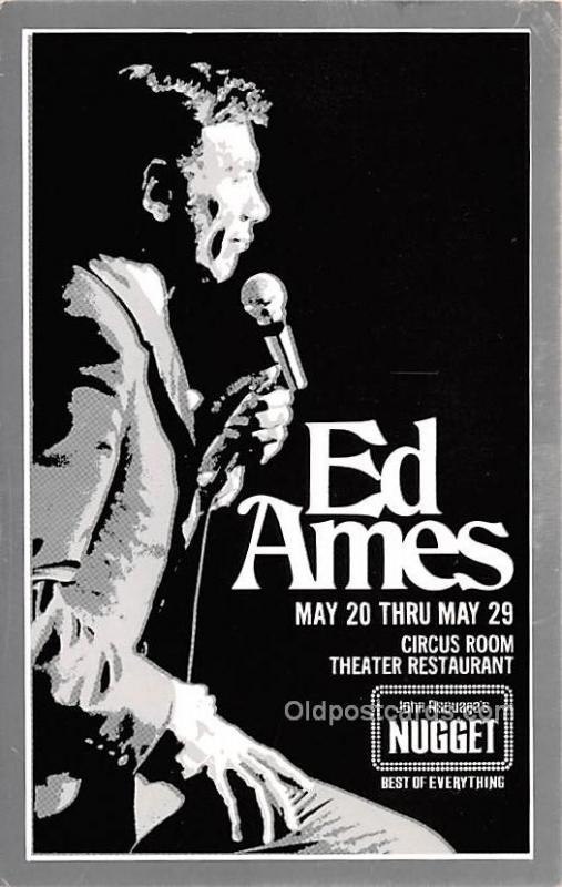 Ed Ames, Circus Room Theater Restaurant Movie Star Actor Actress Film Star Un...