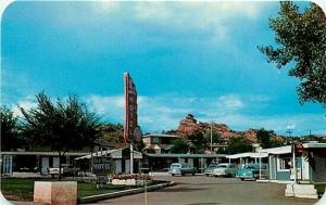CO, Manitou Springs, Colorado, Red Wing Motel, 1960s Cars, Dexter Press 15287-B