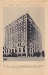 SPRINGFIELD, Illinois, 1900-1910's; Abraham Lincoln Hotel