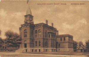 F48/ Bozeman Montana Postcard Gallatin County Court House 6