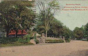 Reviewing Stand, Entrance to Flower Garden, Prospect Park, Brooklyn, NY, PU 1911