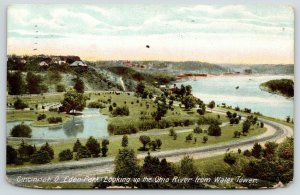 Cincinnati Ohio~Eden Park Panorama From Water Tower~Ohio River~1911
