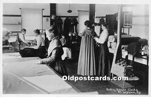 Old Vintage Shaker Post Card Making  Cloaks real photo Mount Lebanon, New Yor...