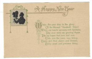 Silhoette of couple, A Happy New Year Poem, 00-10s
