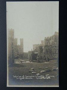 Wales Interior of Caernarfon Castle SACRED STONES KIngs Gate c1905 RP Postcard