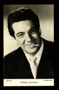 b6431 - Film Actor - Frankie Vaughan, Associated British - plain back - postcard