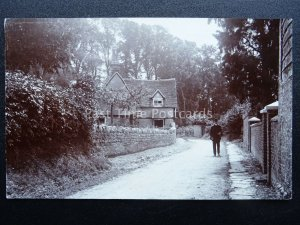 Oxfordshire ABINGDON AREA Gent in Country Lane - Old RP Postcard by Royal Thames
