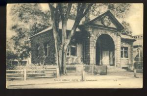 Exeter, New Hampshire/NH Postcard, Public Library, 1952!