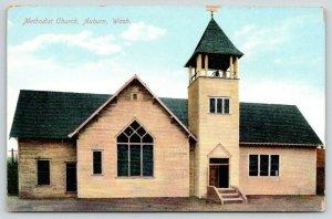 Auburn Washington~Methodist Church~Bell Tower~c1910 Postcard