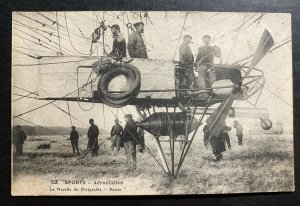 Mint France RPPC Postcard Early Aviation The Pod Of The Dirigible Patrie