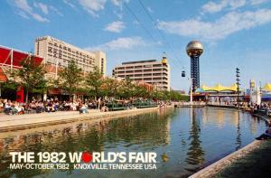 TN - Knoxville, 1982. The 1982 World's Fair, Skyride, Sunsphere,