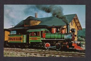 PA Carroll Park & Western Steam Railroad Train Bloomsburg Pennsylvania Postcard