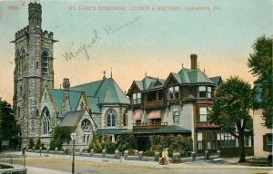 Lebanon Pennsylvania~St Luke's Episcopal Church~Rectory~Ladies Stroll~1910