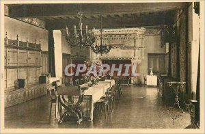 Old Postcard Chateau de Langeais Dining Room Old Guard Room