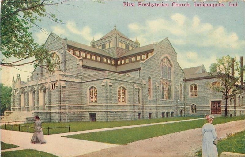 Indianapolis Indiana~Victorian Ladies at First Presbyterian Church 1910