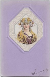 Art Nouveau Lady Mucha Style Jugendstil 04.39