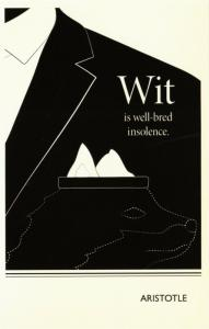 Aristotle Wit is Well-Bred Insolence Philosopher Quote Postcard