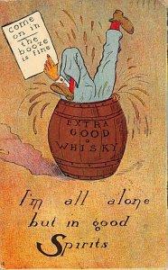 Extra Good Whisky  Postcard 1909