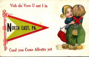 Pennsylvania North East Dutch Kids 1914 Pennant Series