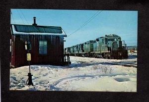 NY Boston & Maine Railroad Train Station Mechanicville New York Postcard