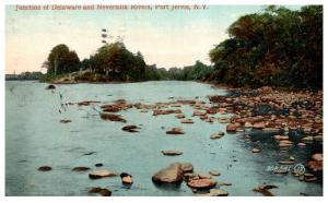 New York  Port Jervis , Junction of Delawre and Neversink Rivers