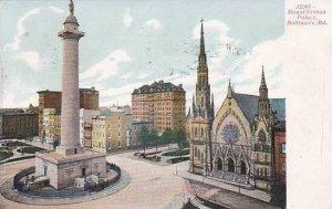 Maryland Baltimore Mount Vernon Place 1907