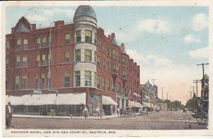 Paddock Hotel, Cor 6th and Court St. Beatrice Neb. 1917