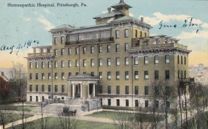 PITTSBURGH , Pennsylvania, PU-1912 ; Homeopathic Hospital