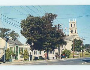 Pre-1980 TOURIST INFO BOOTH & CHURCH Cape Cod - Chatham Massachusetts MA G3255