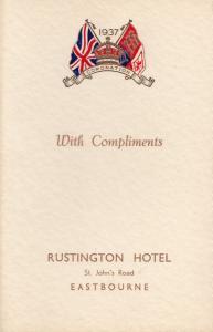1937 Eastbourne Royal Coronation Rustington Hotel Dinner Menu Hand Signed