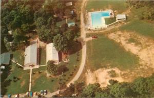 Burton Ohio~L-Shaped Swimming Pool @ Camp Burton~Butternut Road~1960s Postcard