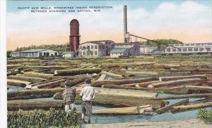 Wisconsin Neopit Saw Mills Menominee Indian Reservation Between Shawano and A...
