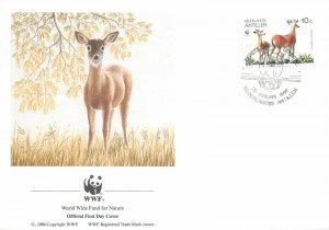 WWF FDC Postcard Nederlandse Antillen deer