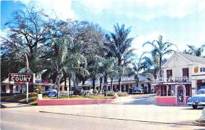 Ocala FL Cordrey's Court Silver Springs Blvd. Old Cars Postcard