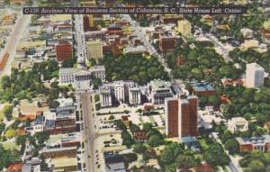 South Carolina Columbia Aerial View Of Business Section