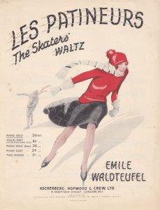 Les Patineurs The Skaters Waltz Emile Waldteufel Olde Sheet Music