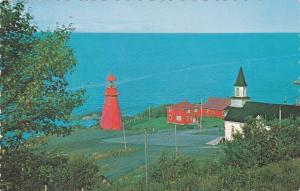 A scenic view in Gaspe Peninsula, Lighthouse, NORD, Quebec, Canada, PU-1989