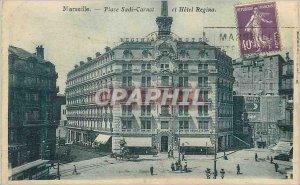 Old Postcard Marseille Place Sadi Carnot and Hotel Regina