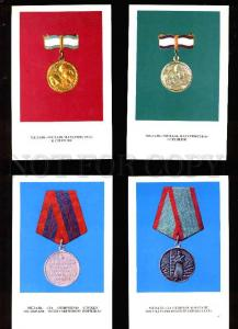 004652 USSR AWARDS & MEDALS collection of 22 postcards