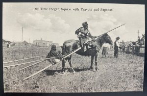 Mint Picture Postcard Native American Indian Old Time Piegan Squaw With Papoose