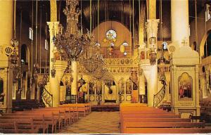 Syria Damascus The Marian Church Interior view Kirche