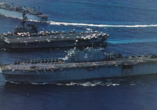 U S Navy 6th Fleet Battle Carrier Group Steaming Toward The