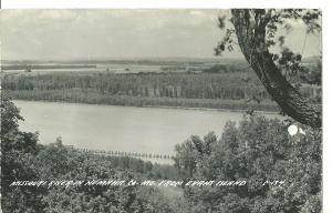 1950's Missouri River In Nemaha Co. MO ~ RPPC ~ Kodak