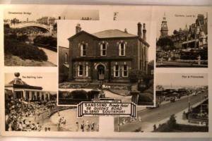 1950's rppc SANDSEND HOTEL & TOWN VIEWS Southport Lancashire UK y3841