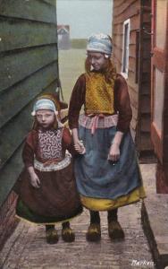 Netherlands Marken Locals In Native Costume