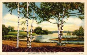 Wisconsin Greetings from Prairie Du Chien Curteich