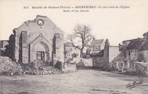 Bouresches , France , 1910s - Ce qui reste de l'Eglise