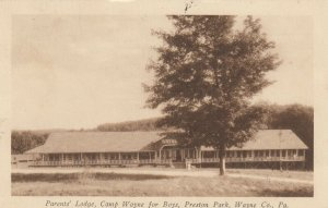 PRESTON PARK , Pennsylvania , 1930 ; Camp Wayne for boys