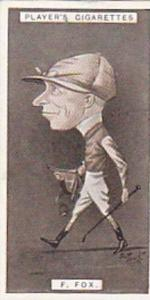 Player Vintage Cigarette Card Racing Caricatures 1925 No 16 F Fox